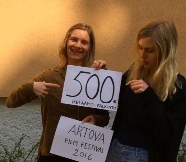 Reklam för Kelaamo-priset på Artova Film Festival.