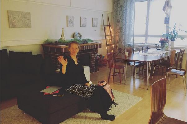 Så här mysigt såg det ut i Uleåborgs Flickornas hus.