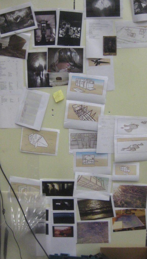 Kuvia ja lavastuksen suunnittelua