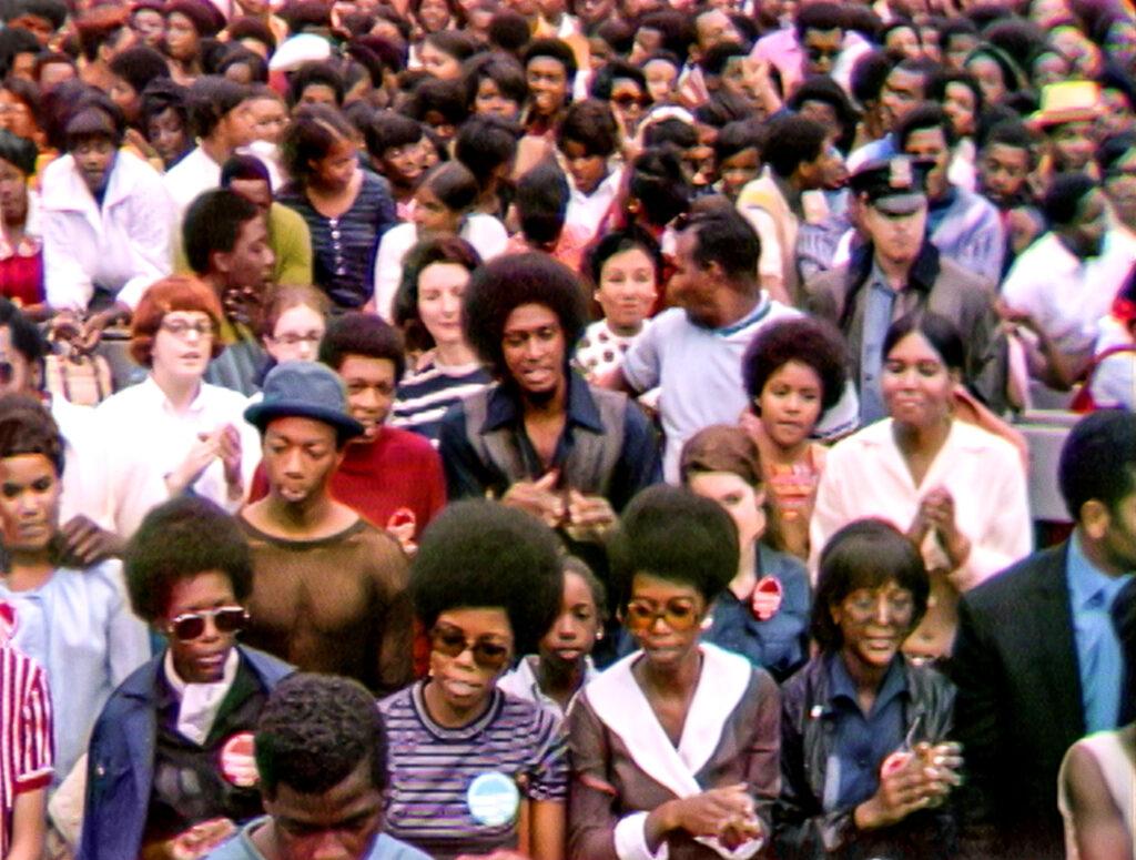 Yleisöä Harlem Cultural Festival -tapahtumassa